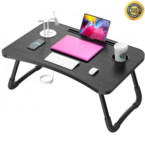 Elekin Portable Laptop Table, Foldable Notebook Table, Bed Table, Lapdesks with